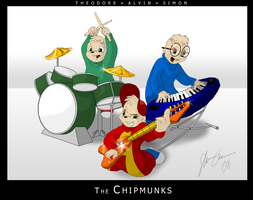 The Chipmunks by kyrio