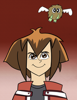 A Boy and His Winged Kuriboh by Emjaidi