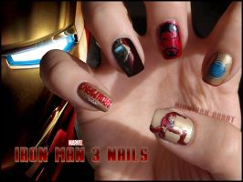 Iron Man Nails by Ninails