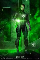 Green Lantern Armie Hammer Justice League Poster by Bryanzap