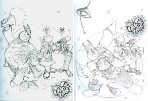 Mickey Mouse: School Girls Rough Cover Concepts by jongraywb