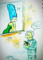 Marge and Moe by AlBrolz