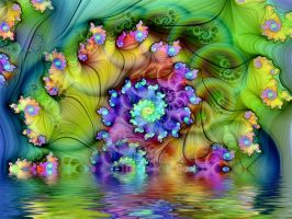 Rainbow Lake Spiral by Thelma1