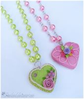 : Rose Cake necklaces : by decoland