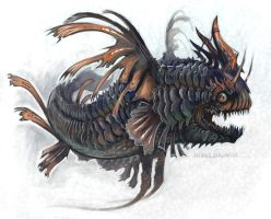 Painted Dragonfish by evil-santa