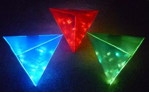 LED Triforces! 1 by Linksliltri4ce