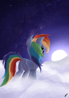 Peaceful night by SiMonk0