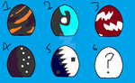 Mystery Egg Adopts -6/6 OPEN- by Hurricanewave14