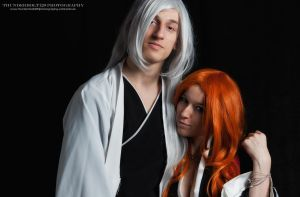 Rangiku Matsumoto and Juushiro Ukitake by Thunderbolt120