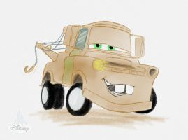 Mater- Disney Character Sketch by workofaart