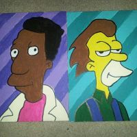 Lenny and Carl Paintings by Sherrardbutler