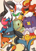 Pokemon DP Collage Colored by DriftingVeedragon