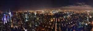 Empire State Building Panorama by Demidism