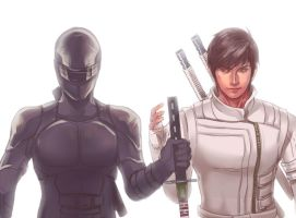 [G.I.JOE]Snake Eyes/Storm Shadow by eilinna