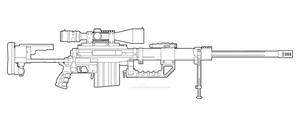 Cheytac Intervention Lineart by MasterChiefFox
