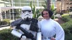 Princess Leia being escorted by a Stormtrooper by Bobafett176