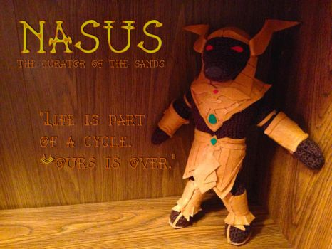 Nasus -Curator of the Sands- Amigurumi by Demi-Plum