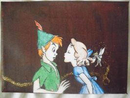 Wendy trying to kiss Peter by Foreveryoung8
