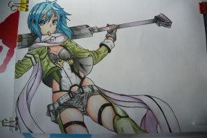Sinon by SorinDrawings