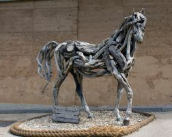 Sculpture at Eden Project, by Heather Jansch by Steve-FraserUK