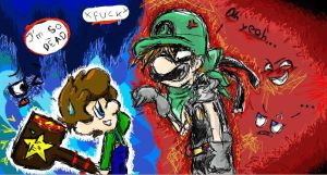 Collab_With_Cora: Mr.L_Luigi by midna-fan15
