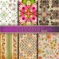 Vintage Floral Digital Paper 12 x 12 inch dsg007 by daisyanderson