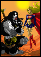 Supergirl  pwns Lobo for Cerebus873 by johnnyharadrim