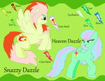 ~:Snazzy and Heaven Dazzle Ref Sheet:~ by CottonCatTailToony