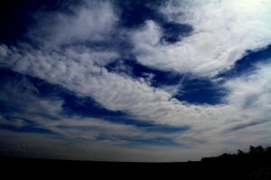 Cloudy blue sky. by vfrrich