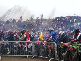Usual first lap chaos @ Weston Beach Race by Petrol-Head-Images
