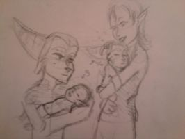 Ratchet and Talwyn with CHILDREN by TheNiceCommenter