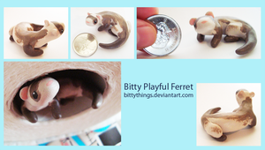 Bitty Ferret - Playful - SOLD by Bittythings