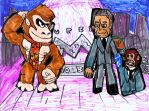 Donky Kong and Scapelli by SonicClone