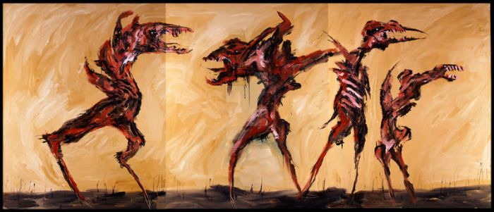 The Insane Run Free Triptych by CliveBarker