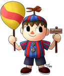 Villager Balloon Boy by GralMaka
