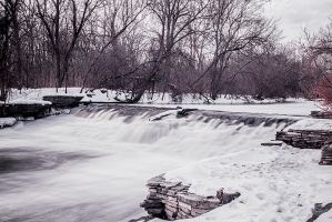 Winter Waterfalls by JessicaDobbs
