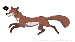 Handsome fox by Quomlon