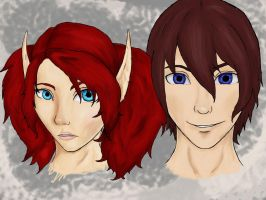 Speed Portrait Selene and Ivan by Ambilia-Scriba