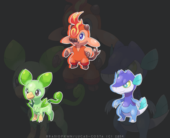 Mythological Starters by BrasioPkmn