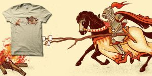 Marshmallow Joust t-shirt by biotwist