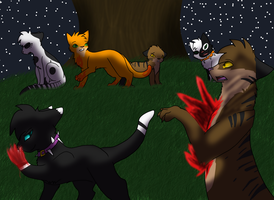 Tigerstar's death by Spiritpie