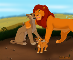 What if: Mufasa and Zira by molitzvec