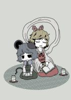 Shou and Nazrin by Genkidown