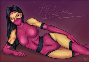 Mileena - Whole Lotta Trouble by KeithByrne
