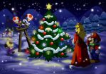 Christmas in Mushroom Kingdom by Irete