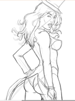 Zatanna digital sketch by ericktdg