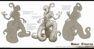 Nyarlathotep Model Sheet by TentaclesandTeeth