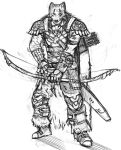 Character sketch-Woodsman by Dragonflamebg
