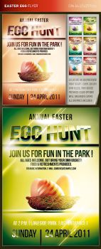 Easter Egg Hunt Flyer by csuz