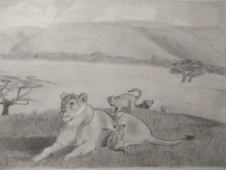 lioness cubs by Mork-from-Ork